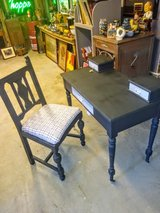Antique oak chalk painted desk & chair in Cherry Point, North Carolina