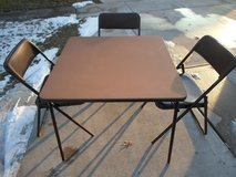 Card Table and 3 chairs in Sandwich, Illinois