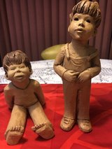 Girl and Boy Clay Figurines in Travis AFB, California