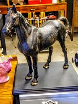 Antique Hubley cast iron horse in Cherry Point, North Carolina