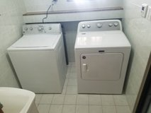 American style washer and dryer set in Okinawa, Japan