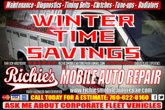 **Richie's Mobile Auto Repair Fully Licensed & Certified in Camp Pendleton, California