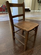 Child's farmhouse wood chair in Houston, Texas