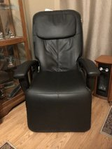 Black massage chair in St. Charles, Illinois