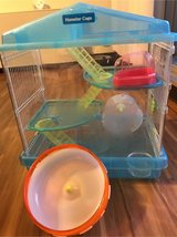Used Hamster Cage W/ extra large wheel in Okinawa, Japan