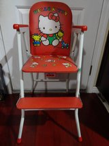 VINTAGE SANRIO HELLO KITTY BABY HIGH CHAIR FROM YOKOSUKA, JAPAN in Fairfield, California