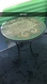 patio metal mosaic table. in Naperville, Illinois