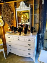 antique solid maple dresser with mirror in Camp Lejeune, North Carolina