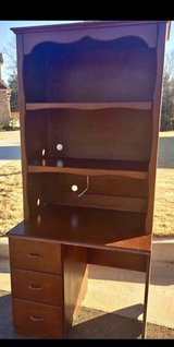 Desk with hutch real wood with drawers (not pictured) in Warner Robins, Georgia