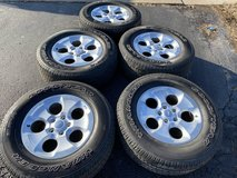 18 Jeep Wrangler tires and rims 275/65/18 in Joliet, Illinois