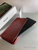 Red Leather Apple Case for iPhone XS Max, Like New in Ramstein, Germany