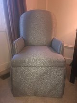 Perfect Condition light blue silk/tapestry chair in Westmont, Illinois