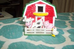 magnet small barn with cow, pig and chicken in Spring, Texas