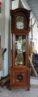beautiful carved grandfather clock from Brittany with Comtoise works in Ramstein, Germany