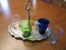Tray with small glasses in Alamogordo, New Mexico