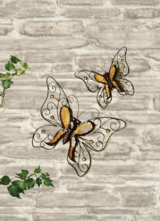 2 pc. Set Wall Decoration Butterlies indoor or outdoor in Ramstein, Germany