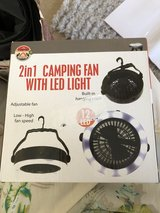 Camping Fan with LED Light in Byron, Georgia