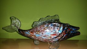 Vintage MURANO FISH 1950s-60s, GLASSFIGURE glass sculpture - colored glass in Wiesbaden, GE