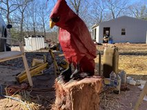 Custom chainsaw carvings in Fort Leonard Wood, Missouri