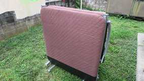 foldaway bed frame with japanese futon mattress great for guests in Okinawa, Japan