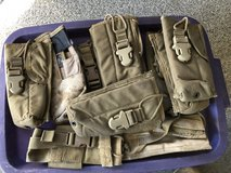 USMC CIF Issue MBITR Radio Pouches Carrier Coyote in Camp Pendleton, California