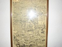 Cloudcroft Map famous artist Robert Waldmire  from 1985 in Alamogordo, New Mexico