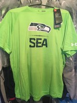 SEATTLE SEAHAWKS - Neon Nike Under Armour Dri-Fit Shirt (Large) *** NEW in Fort Lewis, Washington