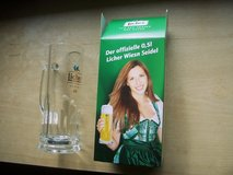 Clear Glass Bier Stein, Licher in Wiesbaden, GE