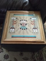 Native American sand painting. Signed by artist. New in Alamogordo, New Mexico