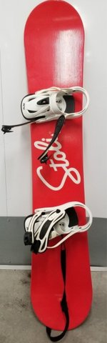 Snowboard with bindings and boots in San Diego, California
