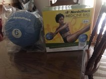6 lbs. Nordictrack medicine ball NEW in Plainfield, Illinois
