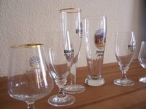 6 German Beer Glasses in Wiesbaden, GE