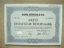 78-year old Austrian Stock Certificate in Stuttgart, GE
