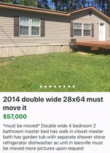 must be moved 2014 28x64 double wide in Fort Polk, Louisiana