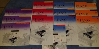 Set of 13 Children's Piano Course Books: Piano Adventures by Nancy and Randall Faber in Kingwood, Texas