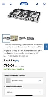 "Frigidaire 36"" Cooktop in Joliet, Illinois"