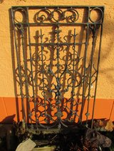 Wrought iron grille front door Wilhelminian style in Ramstein, Germany