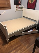 Full size bed with thin box spring included in Orland Park, Illinois