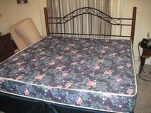 king size bed set with frame in Warner Robins, Georgia