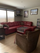 Sectional Leather Sofa w/ottoman and Chair in Fort Lewis, Washington