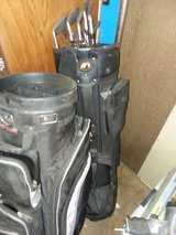 to golf bag with some clubs in 29 Palms, California