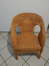 Stool, Rattan-stool, in Ramstein, Germany