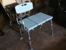 White Shower Transfer Bench. Like New in Travis AFB, California