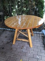 round wood table in Ramstein, Germany
