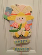 "NWT Wooden ""Happy Easter"" Yard Decor in Camp Lejeune, North Carolina"