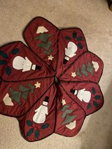 Christmas tree skirt in Sandwich, Illinois