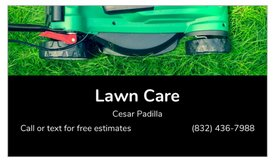 lawn mowing in Spring, Texas