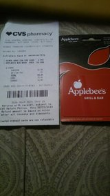 $50 dollar Apple Bees Gift card in Hinesville, Georgia