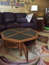 REDUCED PRICE - Octagonal coffee table with storage in Travis AFB, California