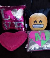 Pillows --- Girls Room in Kingwood, Texas
